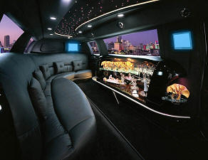 Tampa stretch limousines interior